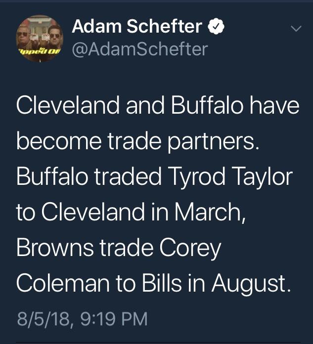 #Browns Corey Colemantraded
