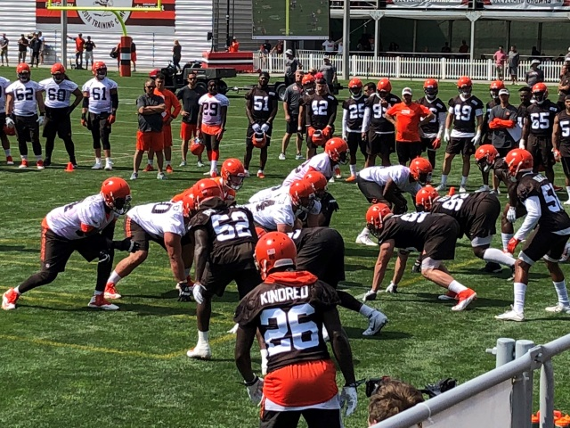 Browns and the offensive line.